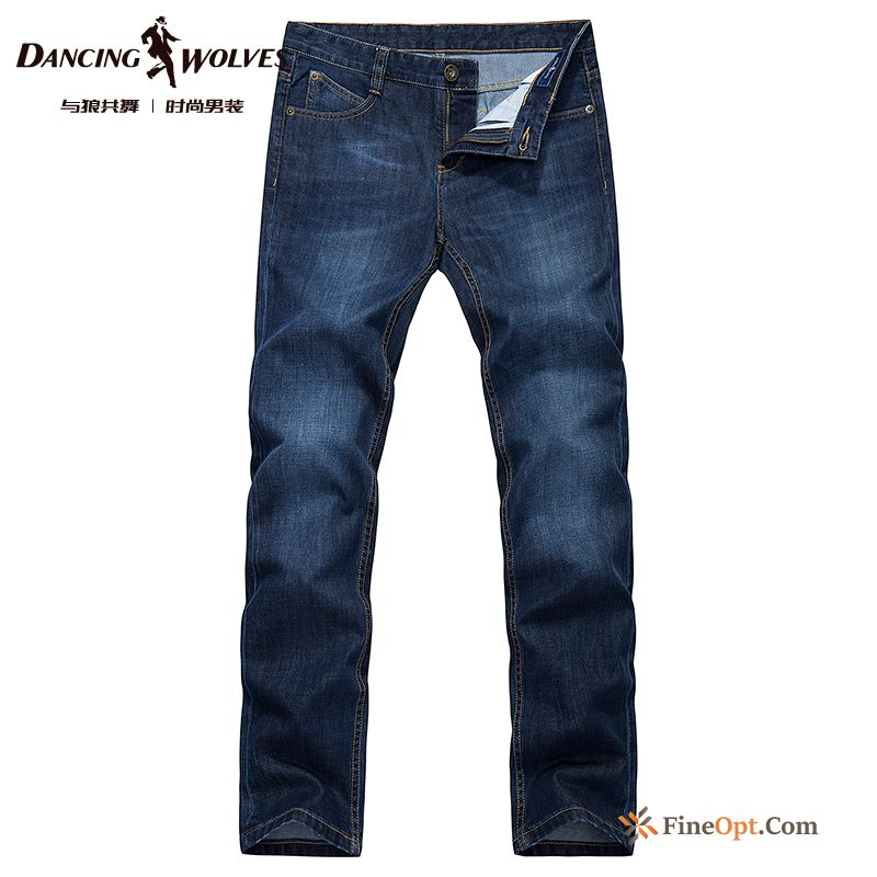 Cheap Men's Leisure Fine New Washing Trousers Straight Jeans