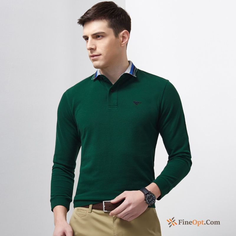 Leisure New Youth Pure Long Sleeves Spring Men's T-shirts