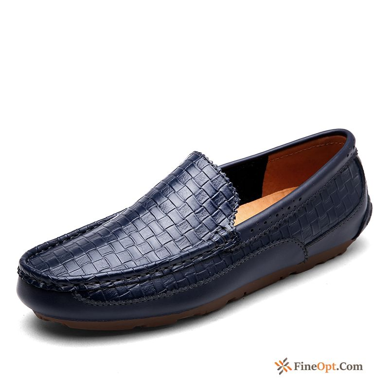Loafers Genuine Leather Driving Leather Shoes Breathable British Men's Sale