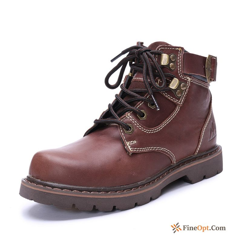 Short Boots Genuine Leather Autumn Trend Boots Winter Martin Boots