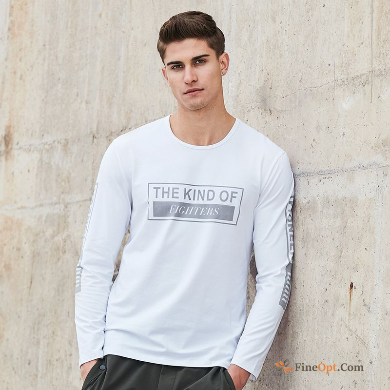 Spring Youth New Long Sleeves Skinny Men's Coat T-shirts For Sale