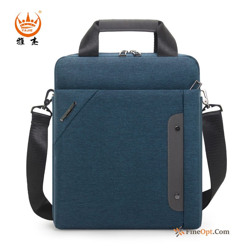 12 Inches Waterproof File Package Oxford Travel Men's Business Blue Handbag