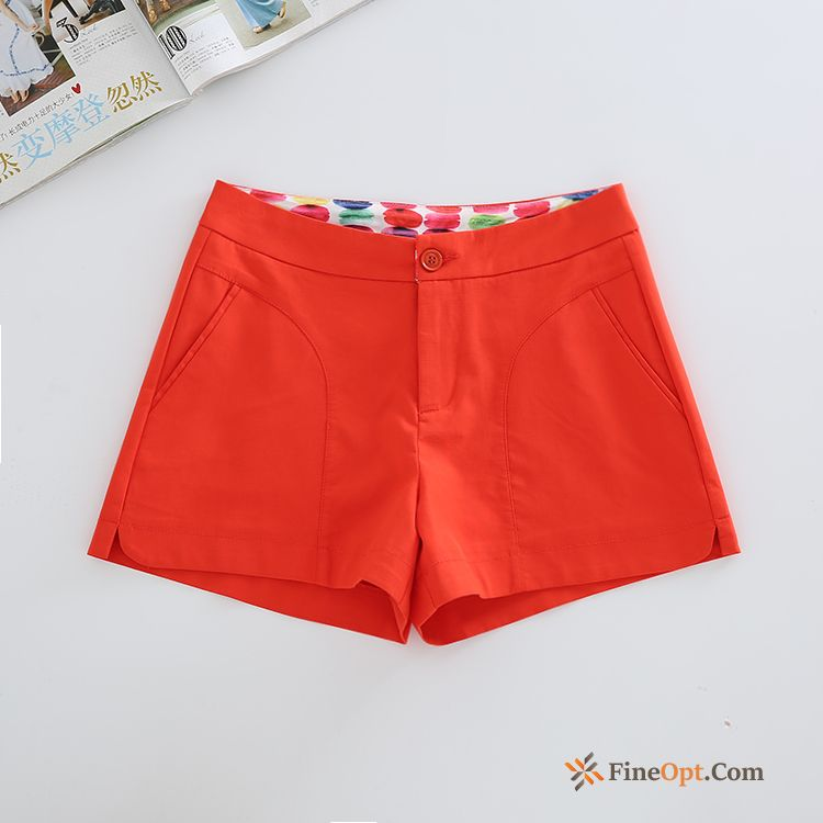 All-match Red A Letter Pants New Europe White Shorts