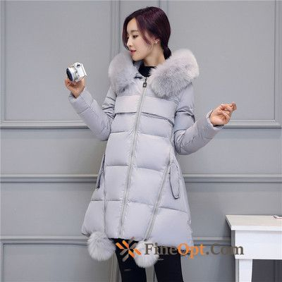 Anti-season Gray Winter Clothes Thin Long Large Size Cotton Lawngreen Cotton Coat Discount