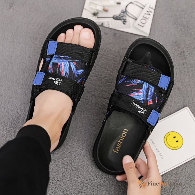 Anti-skid Summer Men's New Casual Outdoor Blue Slippers