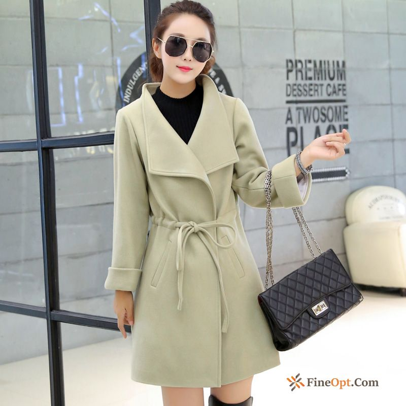 Autumn Long Coat Slim Woolen Spring Europe Royalblue Coat Online