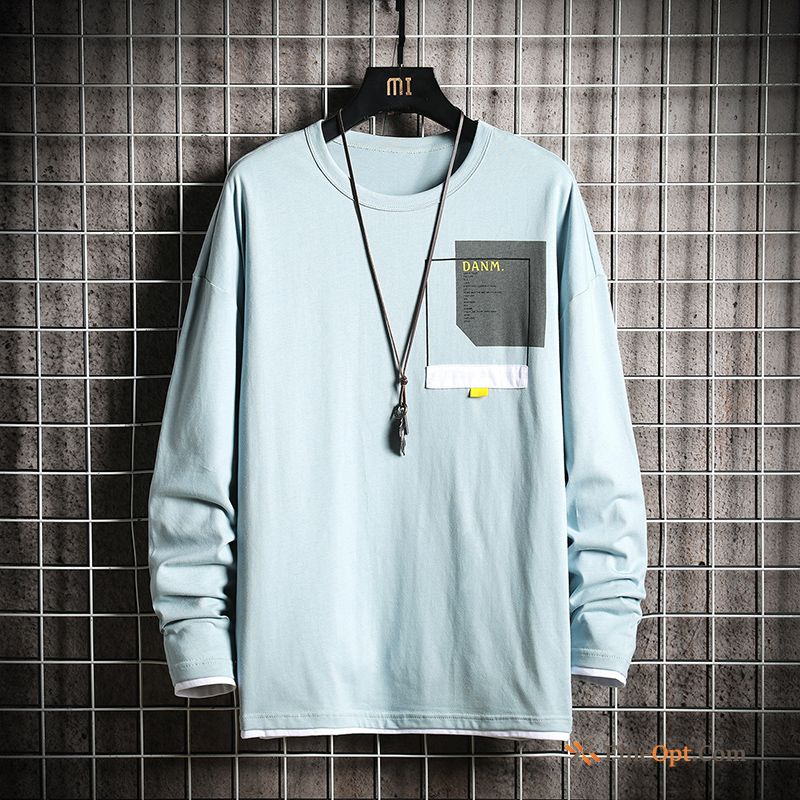 Autumn Men's Trend Leisure Europe Coat Long Sleeves T-shirts Online