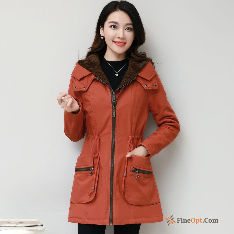 Autumn Plus Velvet Coat Long Europe Winter New Jacket Online