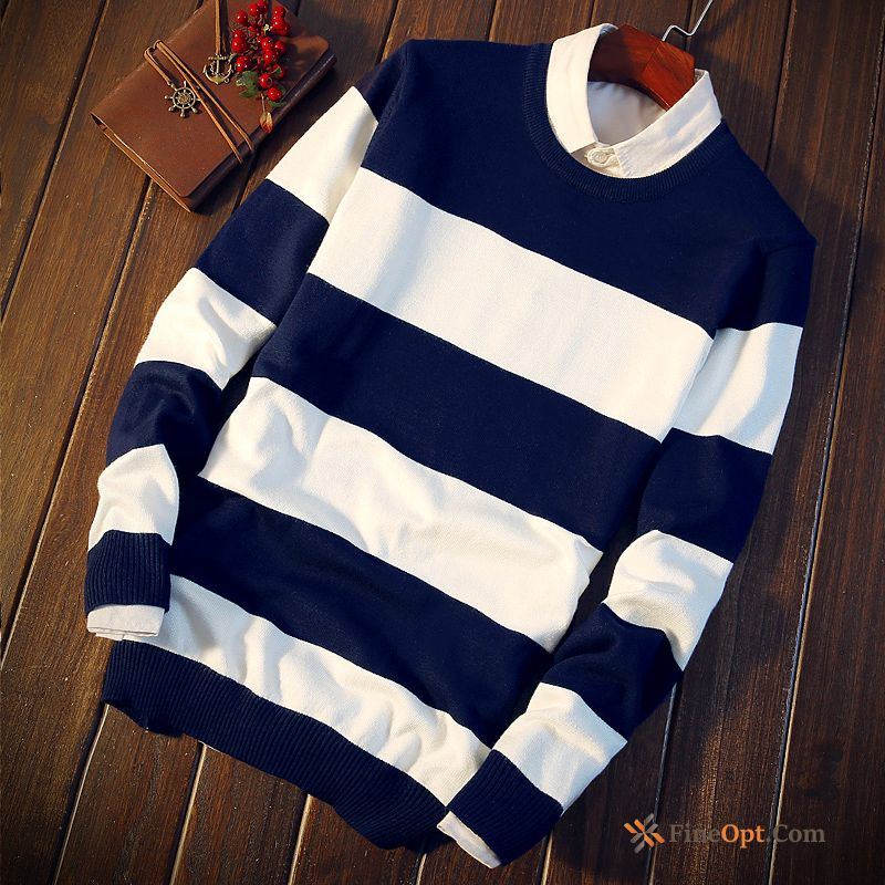 Autumn Skinny Men's Round Neck Europe Bottoming Shirt Trend Sweater