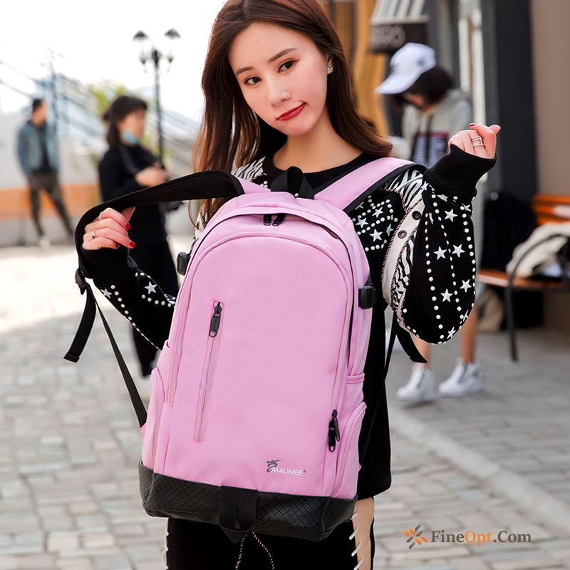 Backpack All-match Laptop Bag High School Trend Student School Bag Paleturquoise Backpack