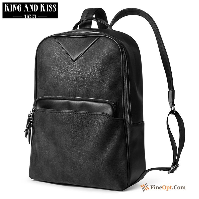 Backpack Black Trend School Bag Personality All-match Fashion Backpack Online