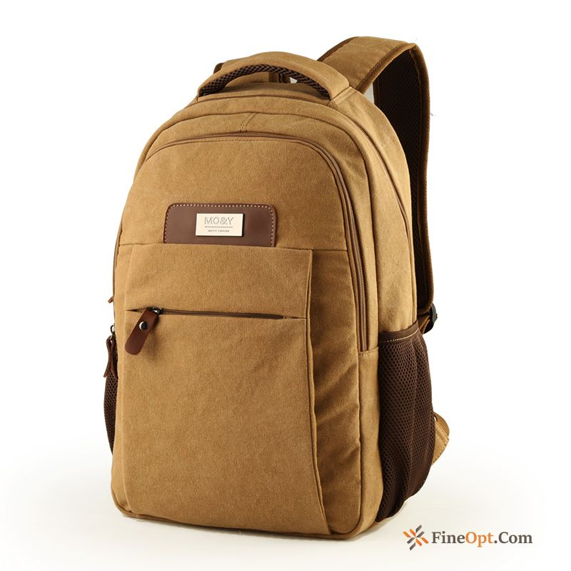 Backpack Canvas Men's School Bag Student Trend Laptop Bag Backpack