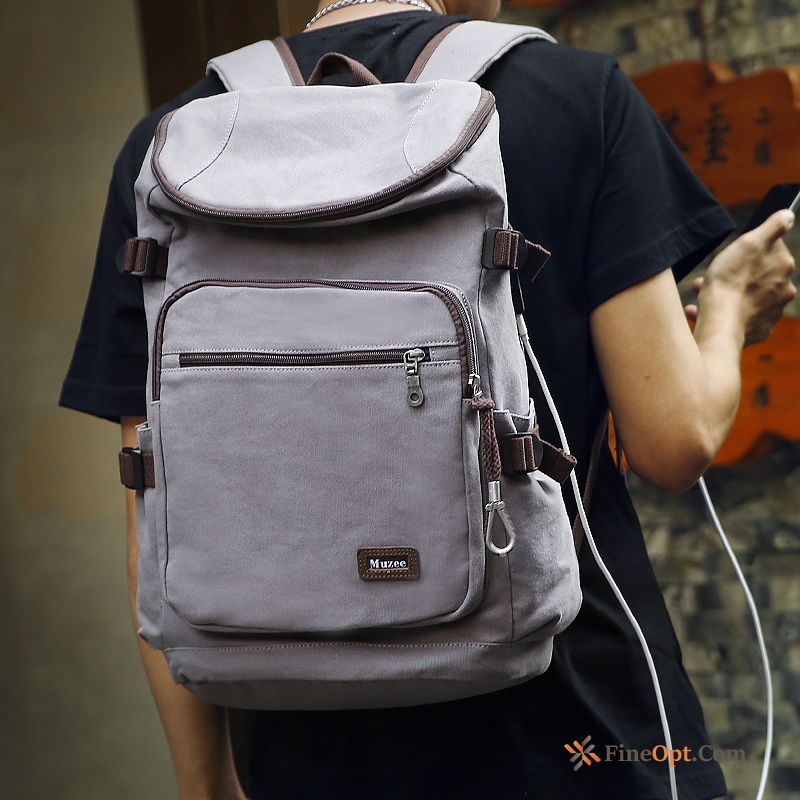 Backpack Canvas Travel Fashion Men's Multifunction School Bag Rainbow Backpack Online