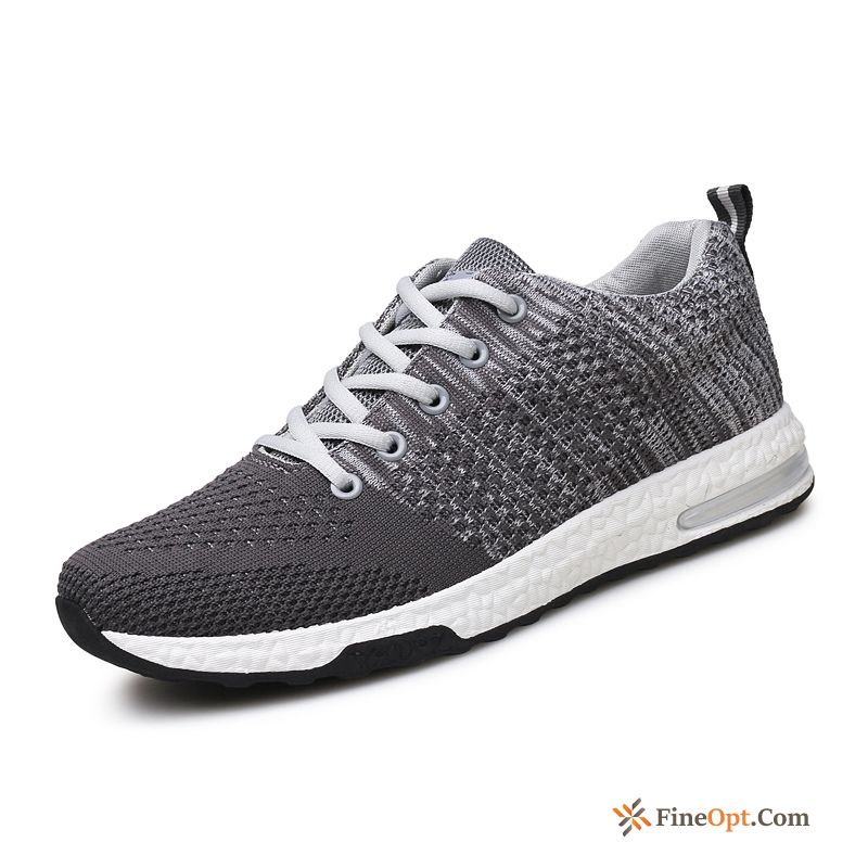 Basketball Men's Flying Weaving Casual Cloth Shoes Sport Breathable Running Shoes