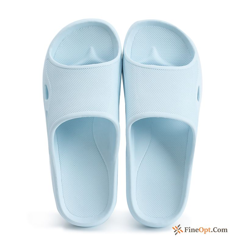 Bathroom Anti-skid Lovers Summer Blue Thick Sole Deep Slippers