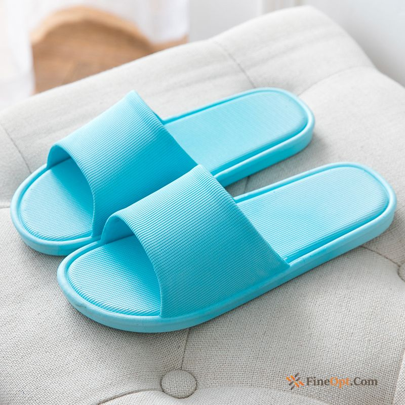 Bathroom Blue Indoor Thick Sole Summer Men's Anti-skid Slippers