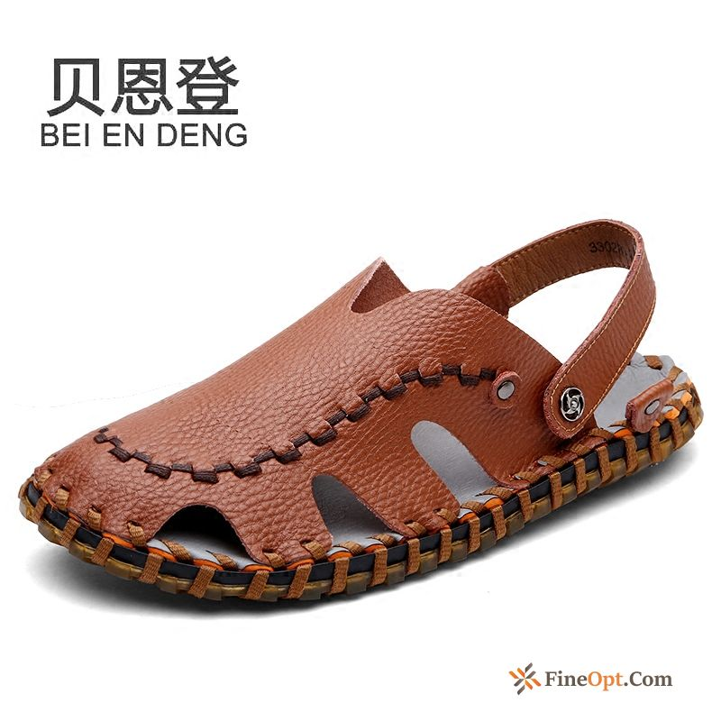 Beach Black British Causal Shoes Anti-skid Summer Sport Sandals