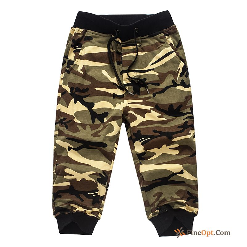 Beach Large Size Pants Cropped Trousers Men's Camouflage Harlan Shorts Discount