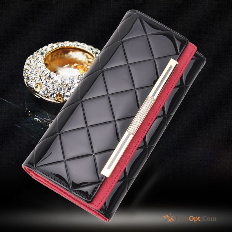Beef Leather Wallet New Women Black Clutch Bag High Capacity Wallets Discount