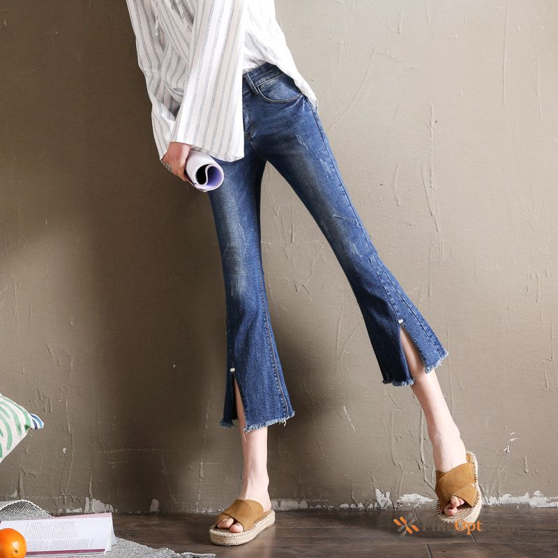 Bell-bottoms Color Denim Slightly Spring Thin Pants Jeans