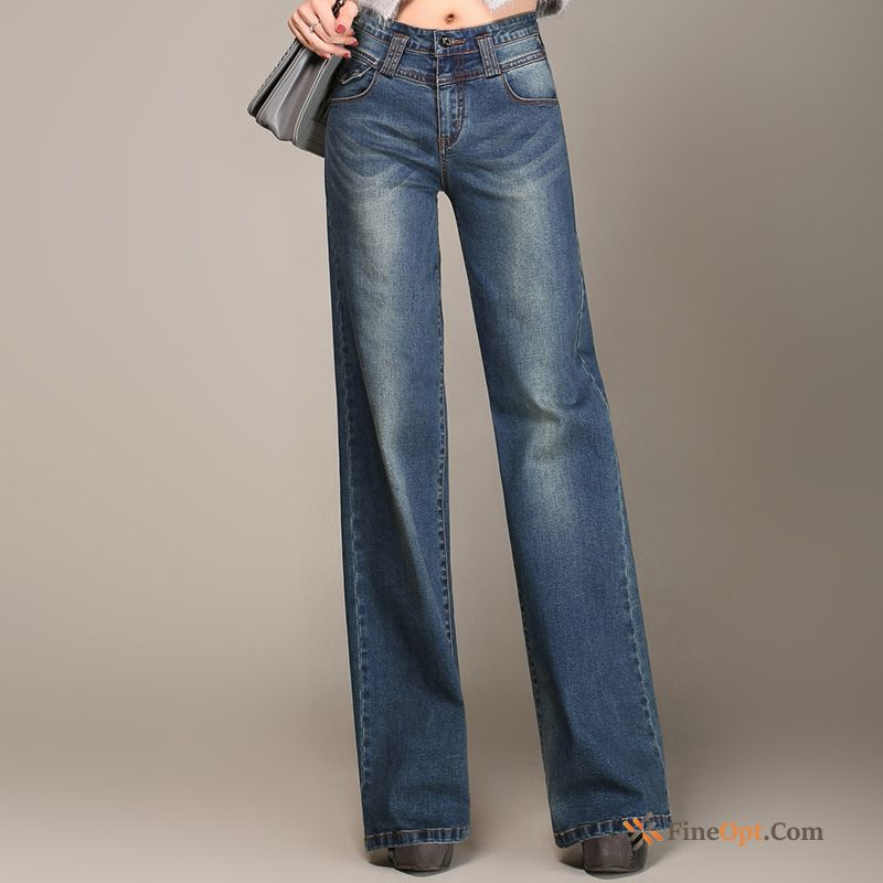 Big Straight Trousers Leisure Spring Bell-bottoms Denim Jeans