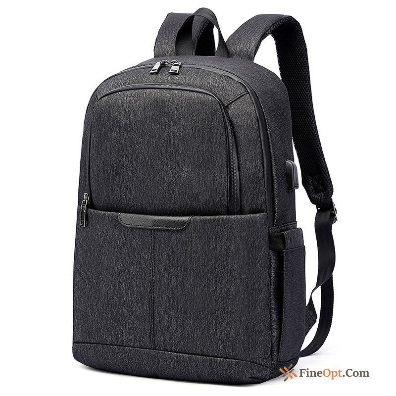 Black Canvas Business Backpack Travel Bag Men Fashion Backpack
