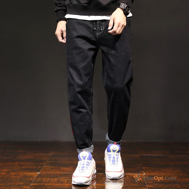 Black Loose Stretch Pants Harlan Summer Trend Jeans Online