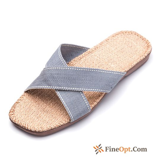 Blue Indoor Wear-resisting Slippers Anti-skid Thick Sole Lovers Pink Slippers