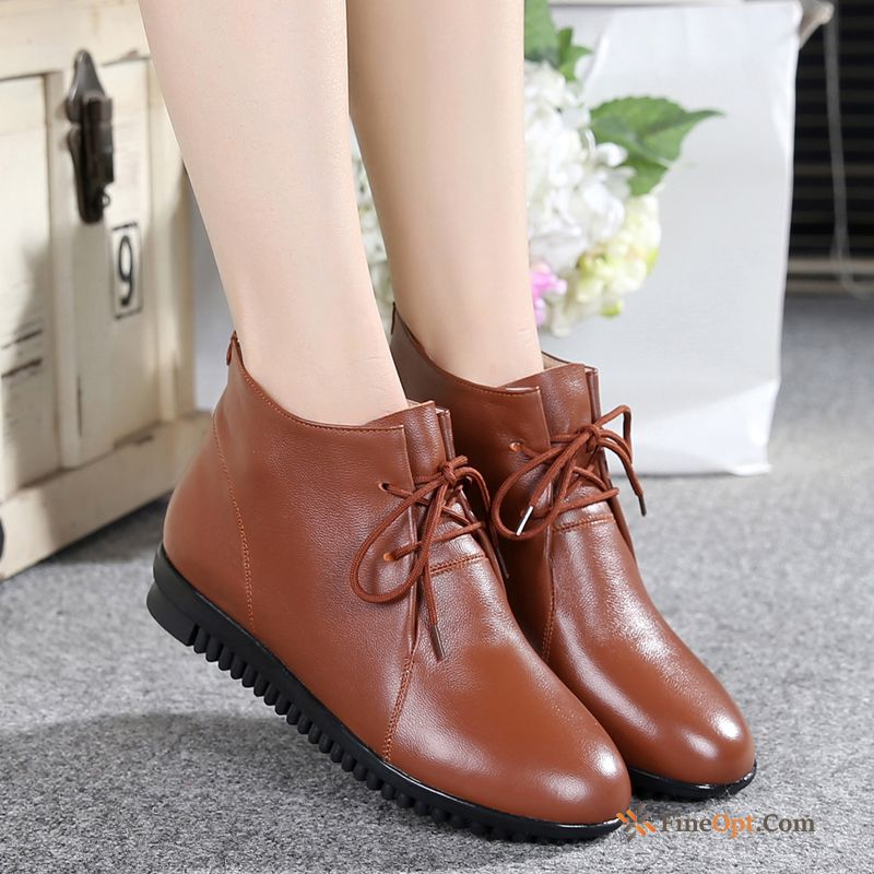 Boots Pumps Genuine Leather All-match Autumn Spring Soft Sole Leather Shoes Online