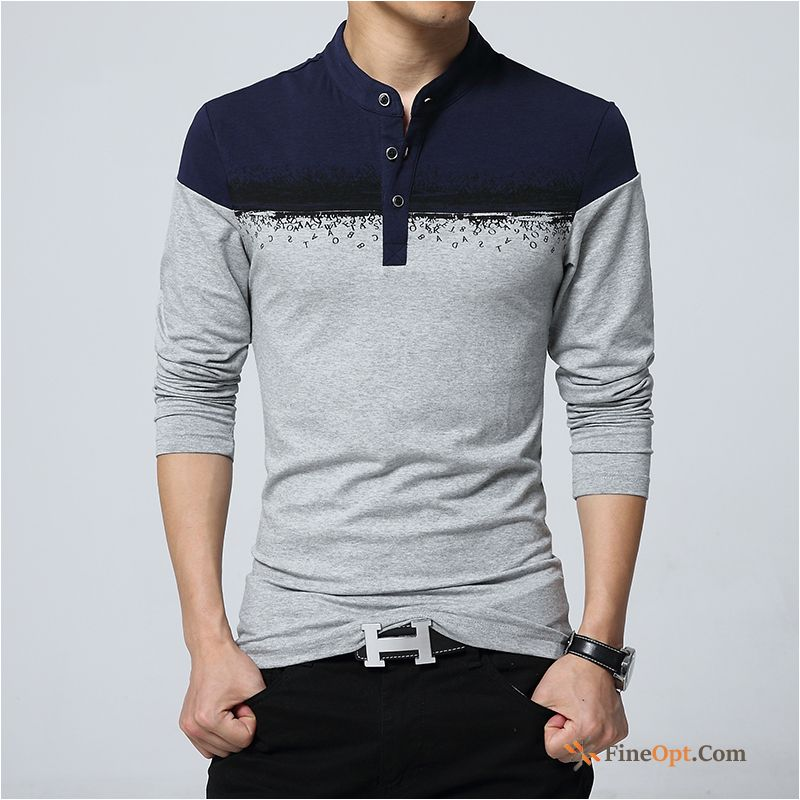 Bottoming Shirt Coat Men's Long Sleeves Fatty Large Size Pure T-shirts