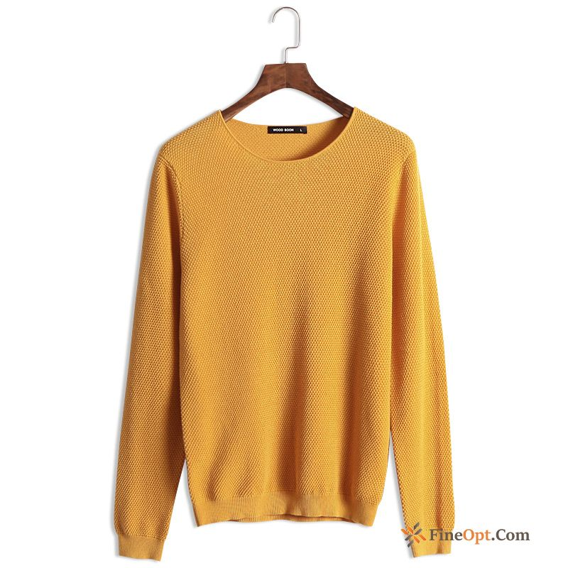 Bottoming Shirt Knitwear Sweater Autumn Slim Pullovers Men's Pure Sweater For Sale
