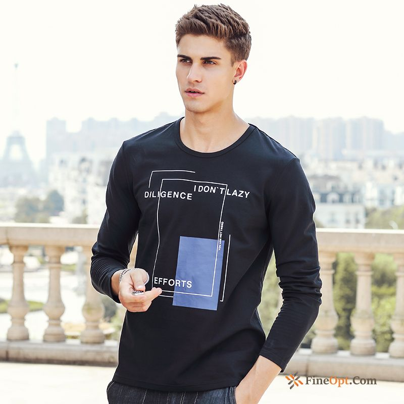 Bottoming Shirt New Simple Round Neck Trend Spring Long Sleeves T-shirts Sale