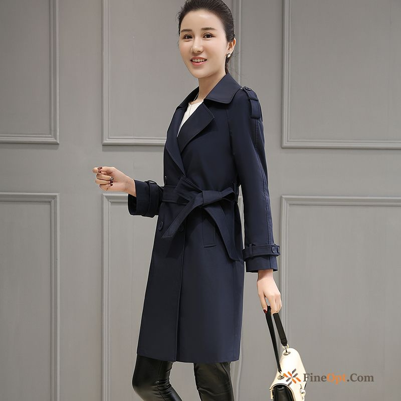 British Temperament New Spring Slim Autumn Double Breasted Coat