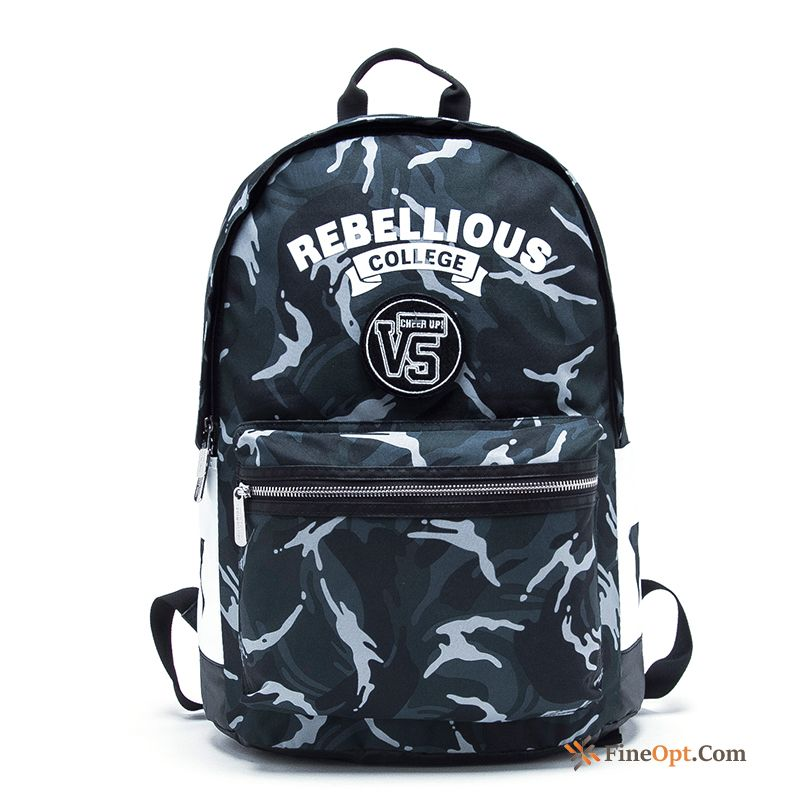 Camouflage Men's Trend Travel Student School Bag Fashion Backpack