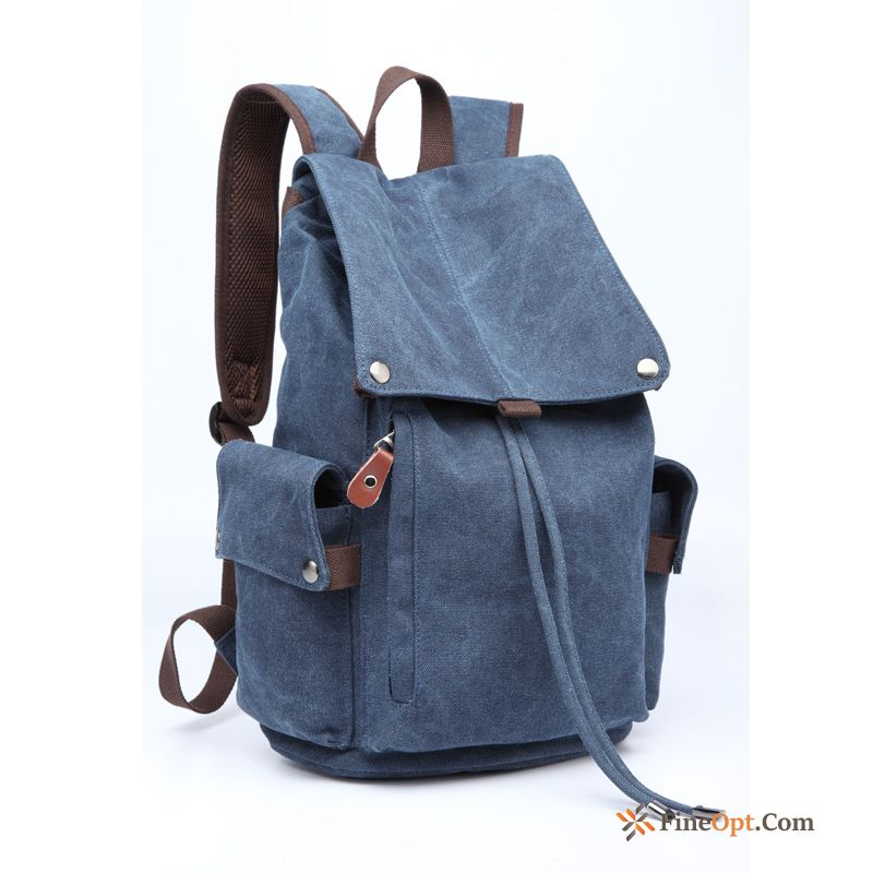 Canvas Laptop Bag Travel Men Backpack Retro Leisure Backpack