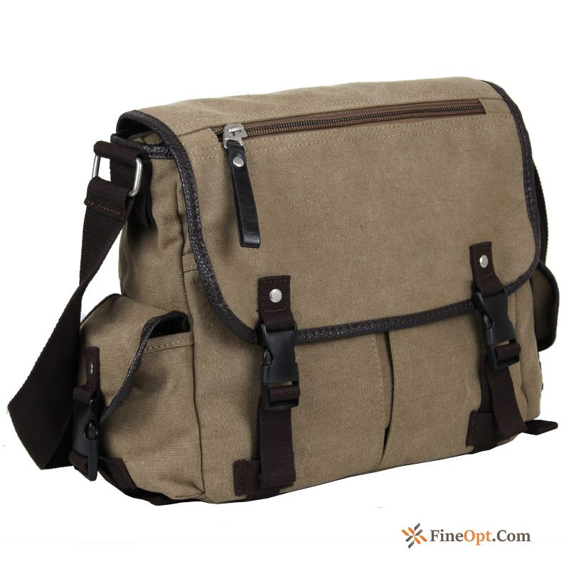 Canvas Men's Retro Leisure Shoulder Bags Messenger Bag School Bag