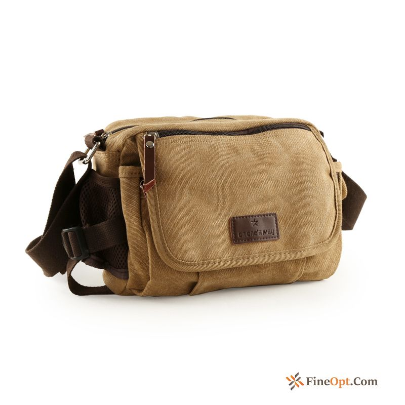Canvas Shoulder Bags Leisure Small Sport Men Backpack