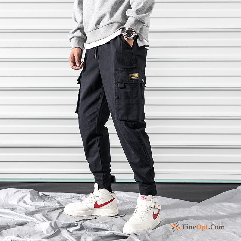 Cargo Harlan Summer Tight Sport Pants Black Navy Cargo Pants