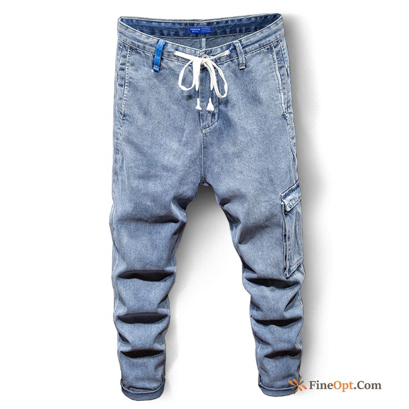 Cargo Jeans Fashion Skinny Men's Trend Brand Pants Discount