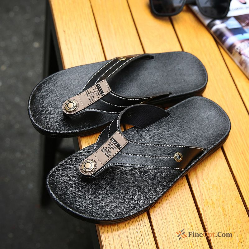 Casual British Personality Flip Flops Beach Slippers Trend Flip Flops For Sale