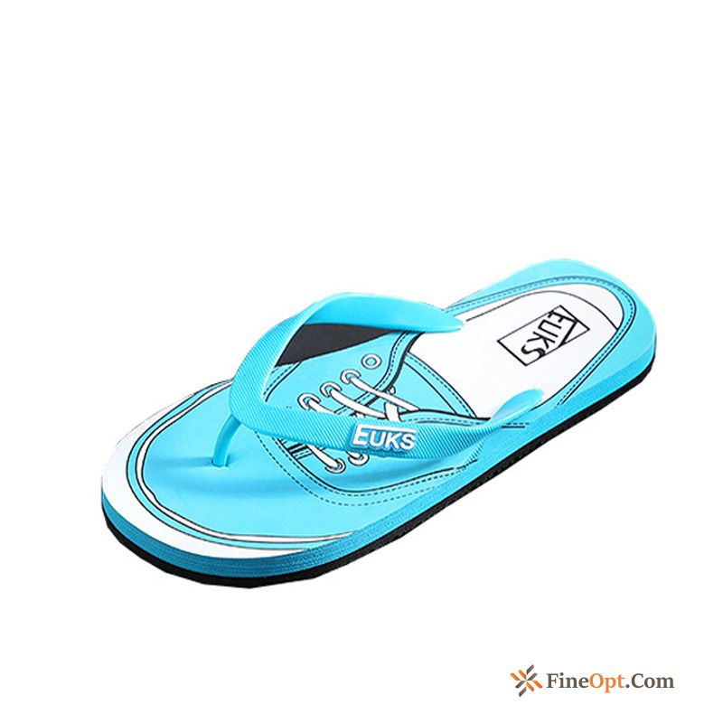 Casual Flip Flops Men's Graffiti New Fashion Slippers Seagreen Flip Flops Online