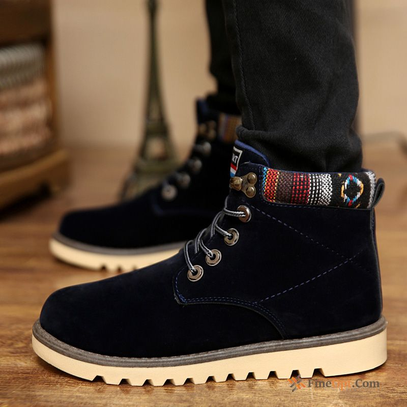 Casual Leather Shoes Trend British Retro Autumn Men's Boots
