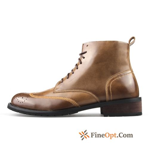 Casual Winter High Top British Men's Boots Martin Boots Lemon