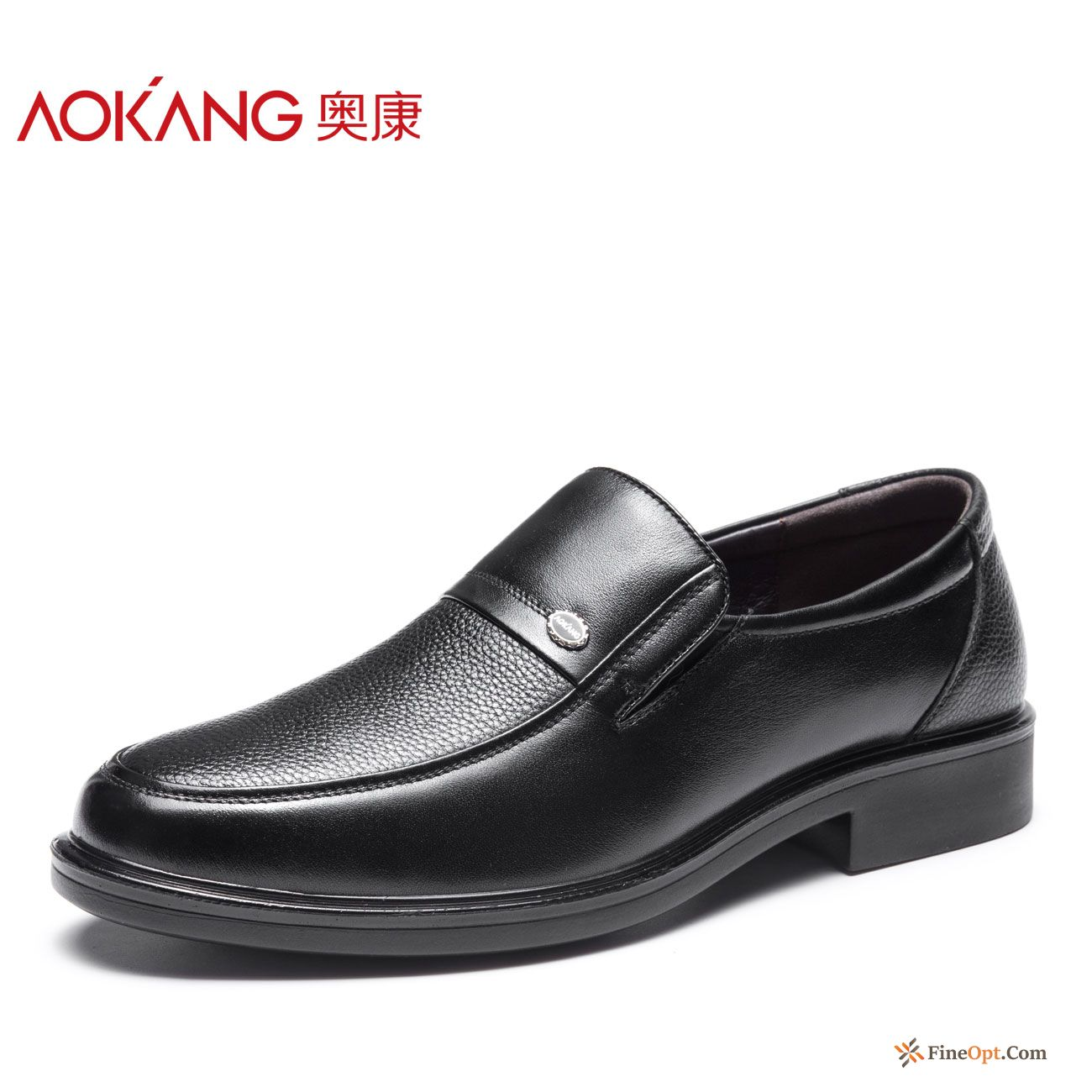 Causal Shoes Genuine Leather Men's Comfortable Leather Shoes Black Slip On Plum Sale