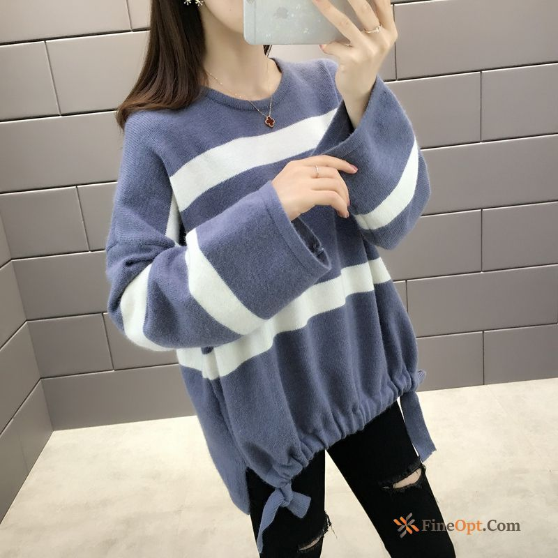 Chalaza Autumn Winter Lady Sweater Knitwear Sweater Outwear All White