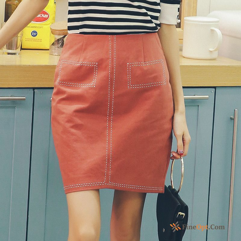 Cheap A Letter Short Skirt All-match Decoration Pure Spring Skirts Skirts