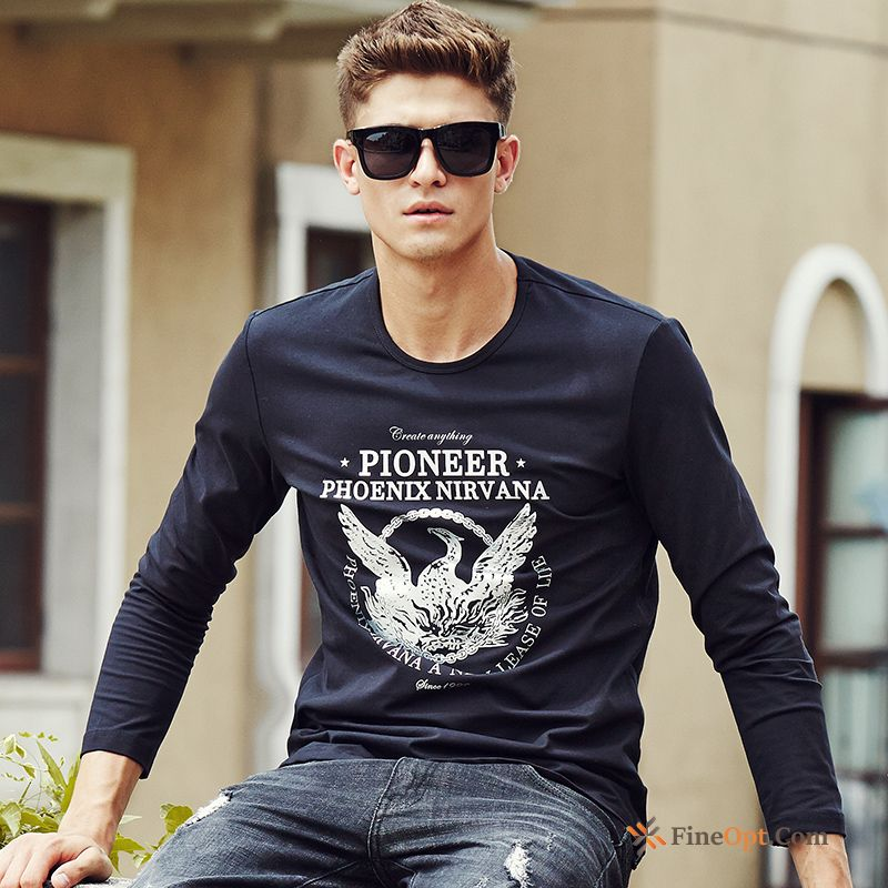 Cheap Autumn Men's Printing New Flower Spring Animal T-shirts