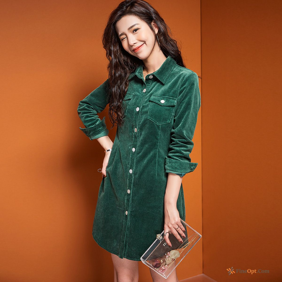 Cheap Blouse Fold Corduroy Spring New Pure Short Palegreen Blouse