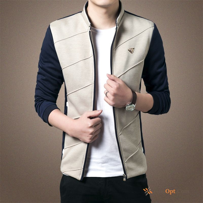 Cheap Coat Knitting Mixed Colors Youth Autumn Europe Trend Jacket