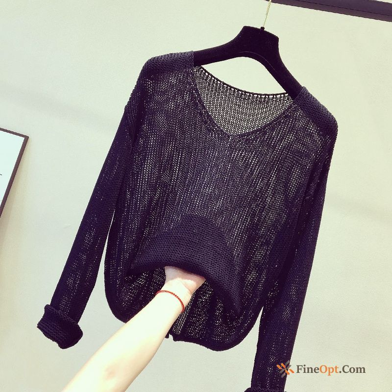 Cheap Coat V Collar Trend Black Skinny Autumn Long Sleeves Yellowgreen Sweater
